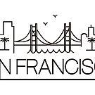 San Francisco - Black City Outline by valerielongo