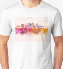Cuenca EC skyline in watercolor background Unisex T-Shirt