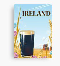 Ireland pint landscape travel poster Canvas Print
