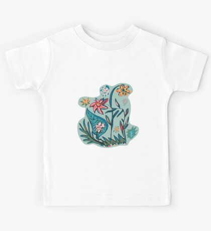 Vintage aqua floral Kids Clothes