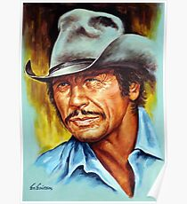 Charles Bronson painting portrait Poster