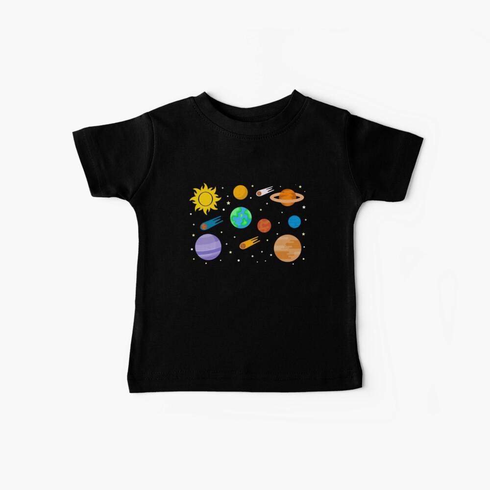 Planetas, Sol y Estrellas Camiseta para bebés