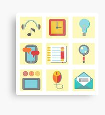 set of flat icons for web appplication Metal Print