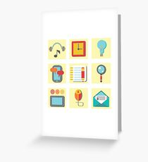set of flat icons for web appplication Greeting Card