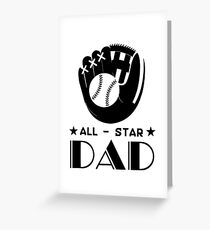 All Star Softball Dad T Shirt Fathers Day Gift Greeting Card