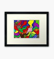 Vivid Puzzle Framed Print