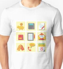 set of flat icons for web design T-Shirt