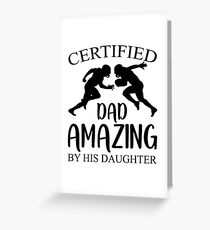 Football Dad By Daughter Shirt Fathers Day Gift Greeting Card