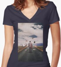 The Illusion Of Reality Women's Fitted V-Neck T-Shirt