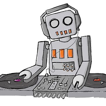 Robot DJ - T-shirt by GeeklyShirts