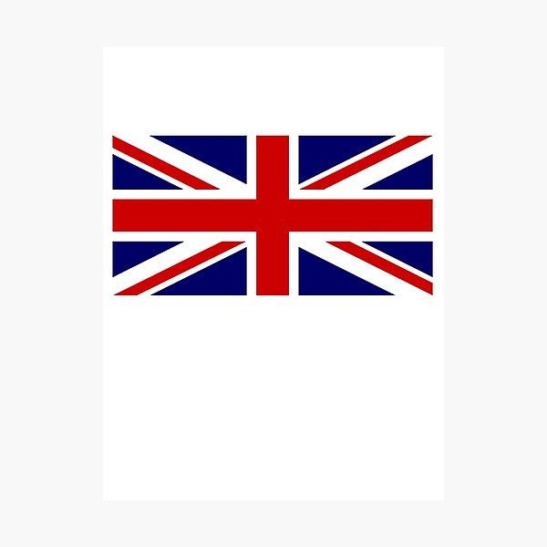Union Jack Sticker British Flag Uk United Kingdom Pure Simple 1 2 Photographic Print By Tomsredbubble Redbubble