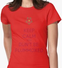 Keep Calm and Dun't Be Flummoxed Womens Fitted T-Shirt