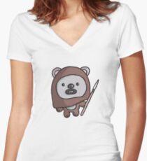 Cute Ewok 2 - T-shirt Women's Fitted V-Neck T-Shirt