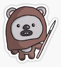 Cute Ewok 2 - T-shirt Sticker