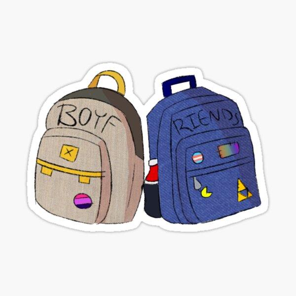 BMC boyf riends backpack (no bg) Sticker