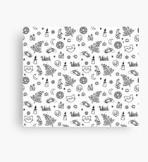 White witch pattern  Canvas Print