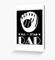 All Star Softball Dad T Shirt Fathers Day Gift (1) Greeting Card
