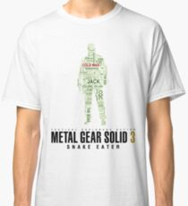 Metal Gear Solid 3 - Snake Eater - Typography  Classic T-Shirt