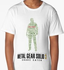 Metal Gear Solid 3 - Snake Eater - Typography  Long T-Shirt