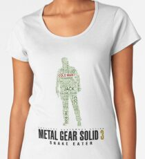 Metal Gear Solid 3 - Snake Eater - Typography  Women's Premium T-Shirt
