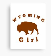 wyoming girl Canvas Print