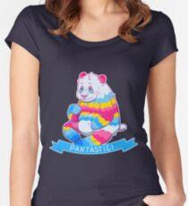 Pan-da is Pan-tastic! Women's Fitted Scoop T-Shirt