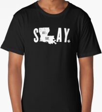 SLAY ALL DAY (white text) Long T-Shirt