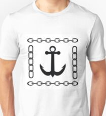 silhouette of anchor Unisex T-Shirt