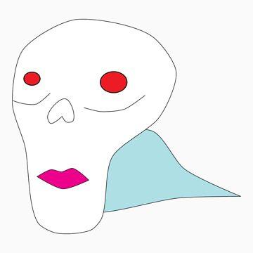 Skull With Lipstick by ryanpederson