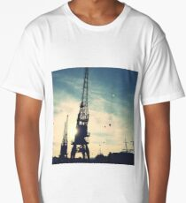 Hot Air Balloons over Bristol Cranes Long T-Shirt
