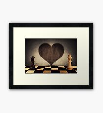 the impossible relationship Framed Print