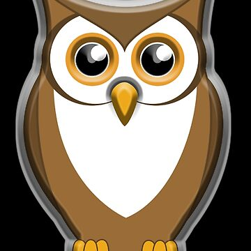OWL, Brown Owl, Bird of prey by TOMSREDBUBBLE