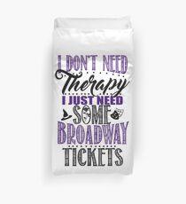 Broadway Lover Funny T-shirt Duvet Cover