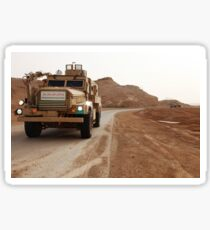 Cougar armored fighting vehicles in Iraq. Sticker