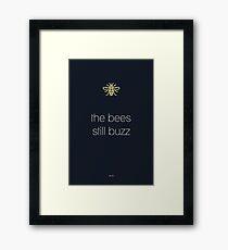 Manchester - Bees still buzz Framed Print