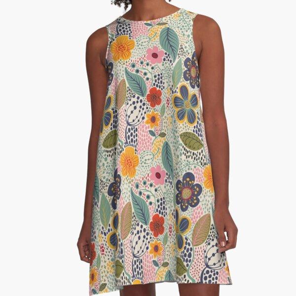Secret Garden A-Line Dress