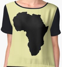 The continent of Africa map of African nation Women's Chiffon Top