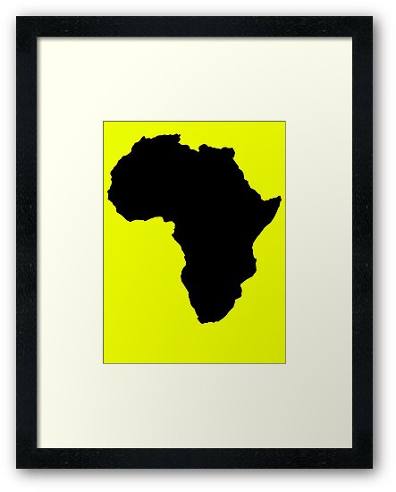 The continent of Africa map of African nation by jazzydevil