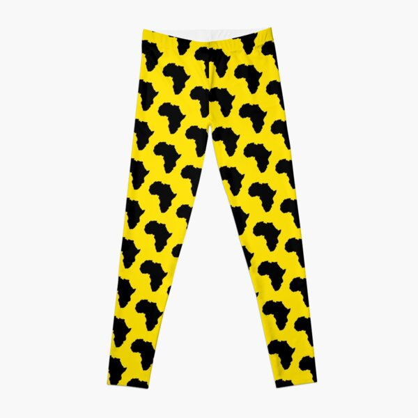 The continent of Africa map of African nation Leggings