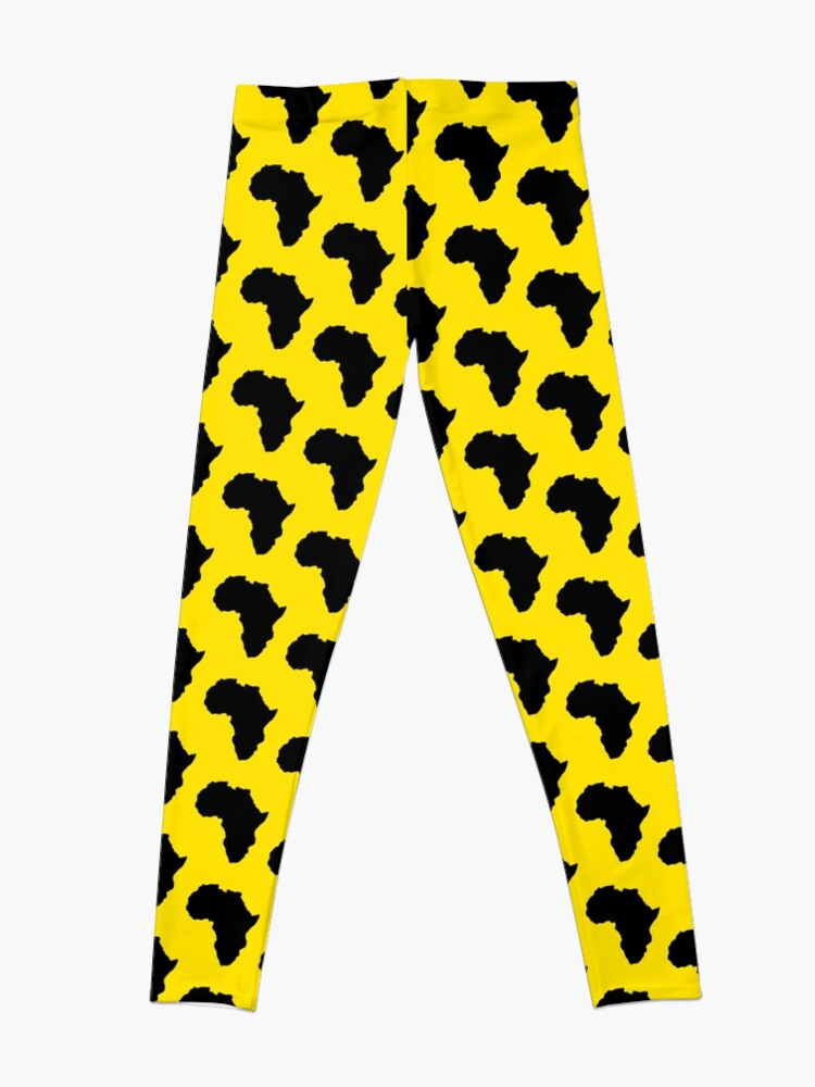 Alternate view of The continent of Africa map of African nation Leggings