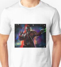 Star Lord in colorful nebula  Unisex T-Shirt