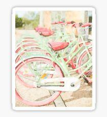 Pink Beach Bicycles Sticker