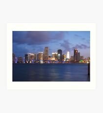 A Sizzlin Evening in Miami Art Print