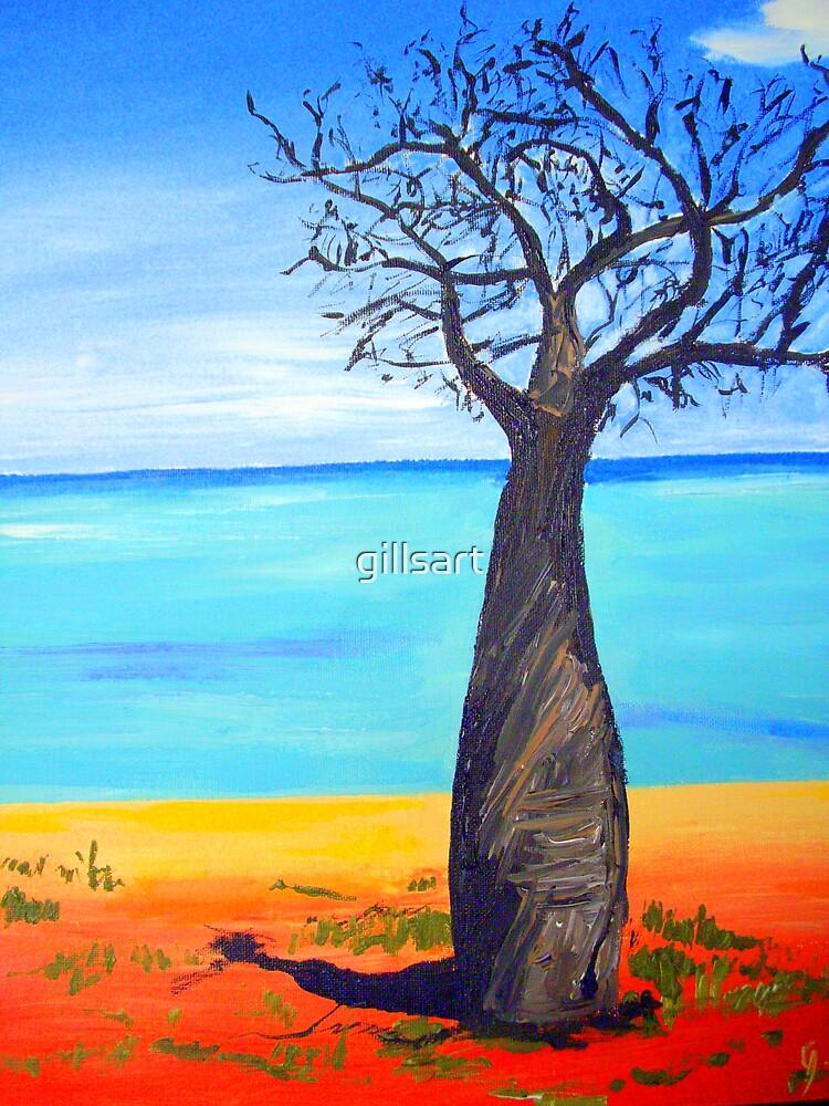 Boab tree W A  by gillsart