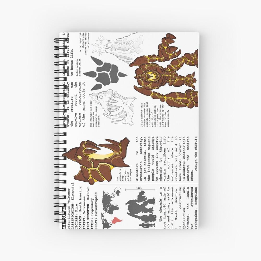 Monster Guide: Cherufe Spiral Notebook