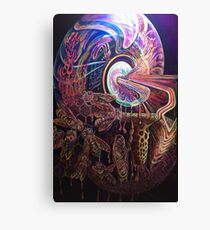 Hyperdimensional Honeybees cultivating Cosmic Honey Canvas Print