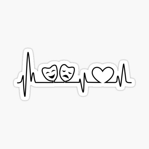 Theatre In Heartbeat Sticker