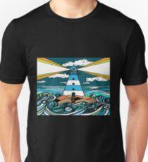 The Guiding Light, Lighthouse Artwork Unisex T-Shirt