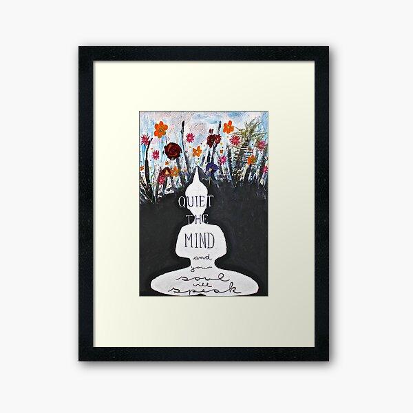 Quiet the mind  Framed Art Print
