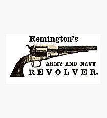 Remington Army Navy Revolver Ad Photographic Print